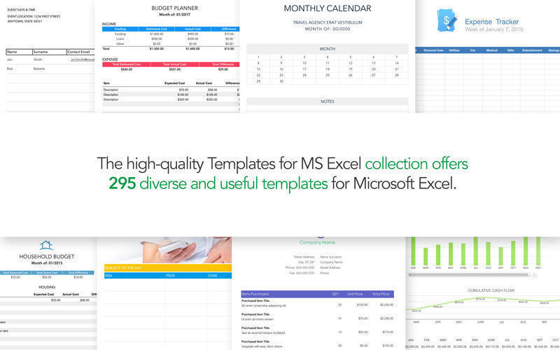 Screenshot 1 for Templates for MS Excel
