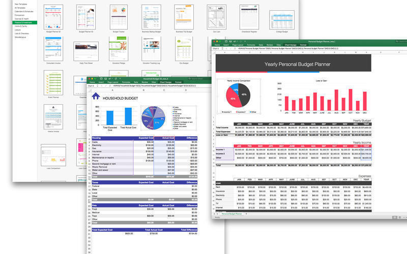 Screenshot 2 for Templates for MS Excel