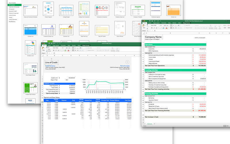 Screenshot 3 for Templates for MS Excel