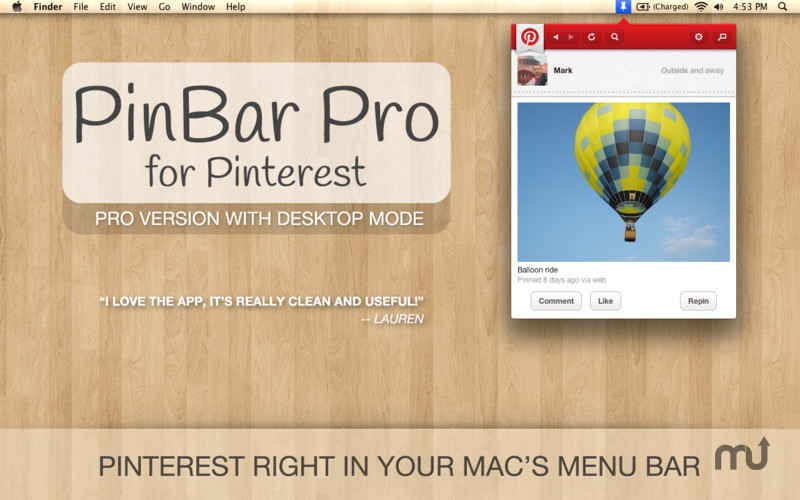 Screenshot 1 for PinBar Pro for Pinterest