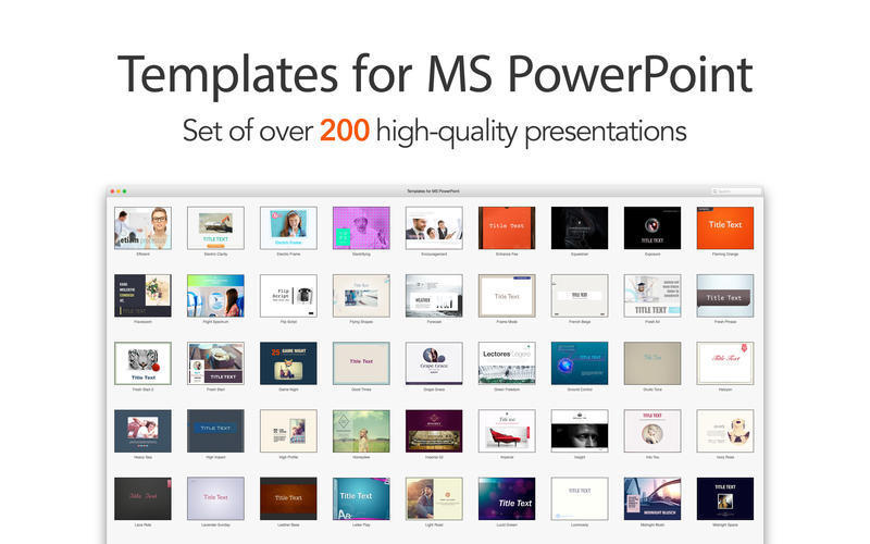 Screenshot 1 for Templates for MS PowerPoint