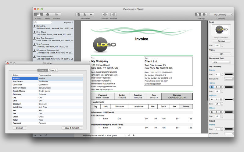 Screenshot 2 for iDea Invoice Classic