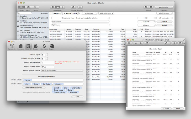 Screenshot 3 for iDea Invoice Classic