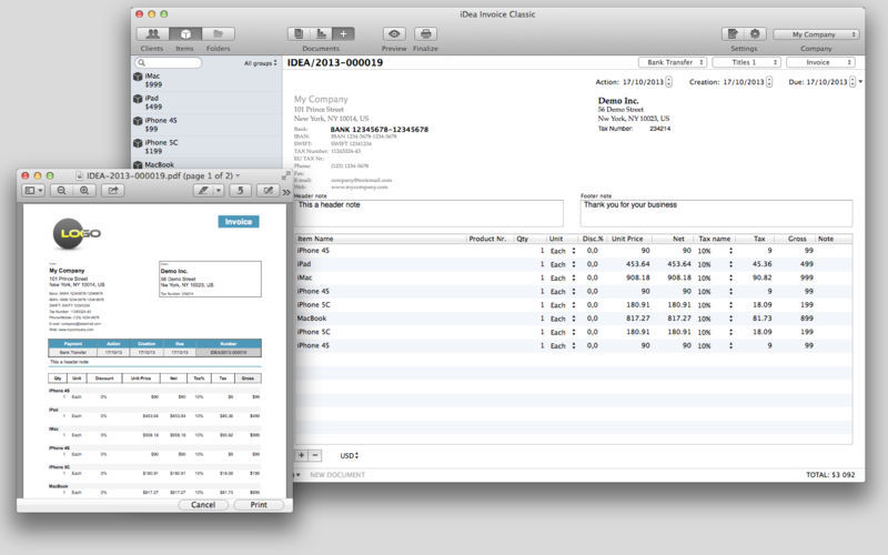 Screenshot 4 for iDea Invoice Classic