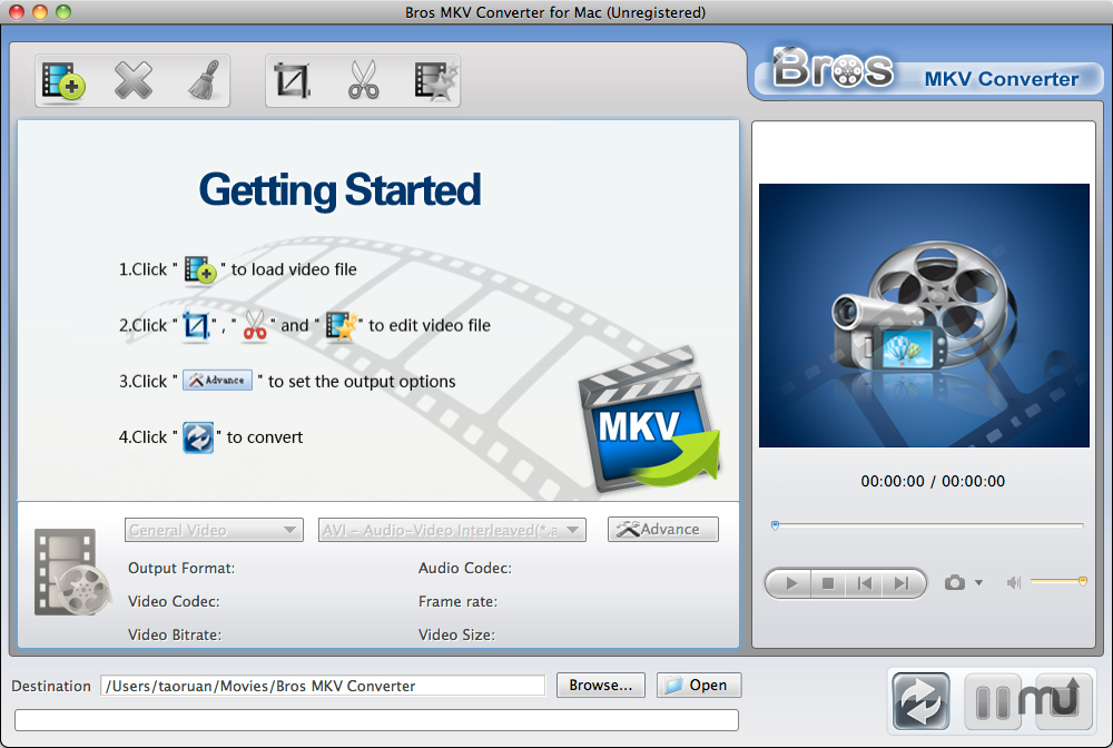 Screenshot 1 for Bros MKV Converter