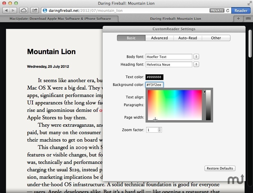 Screenshot 1 for CustomReader
