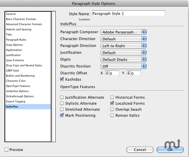 Screenshot 2 for IndicPlus for InDesign