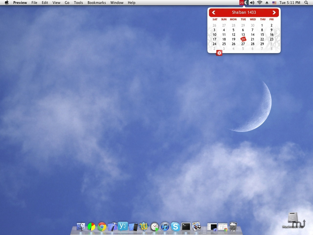 Screenshot 1 for Islamic Calendar
