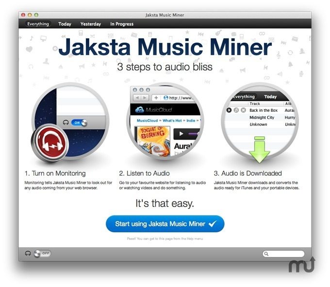 Screenshot 1 for Jaksta Music Miner
