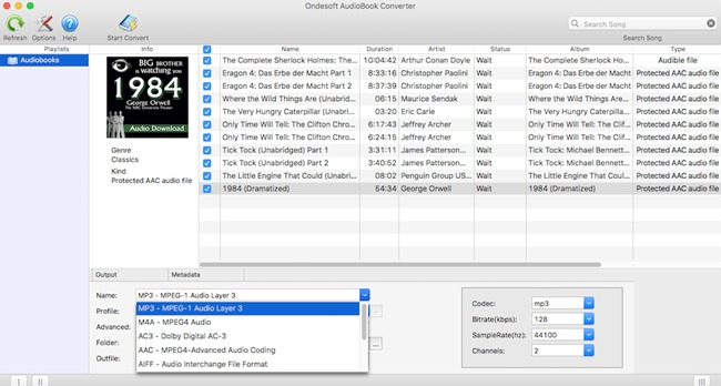 Screenshot 1 for Ondesoft AudioBook Converter