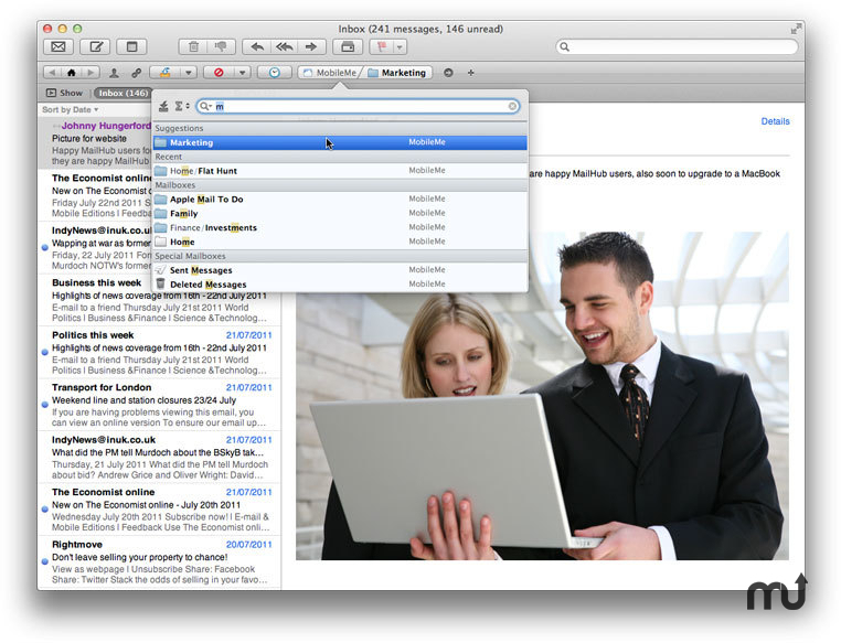 Screenshot 1 for MailHub for Mountain Lion
