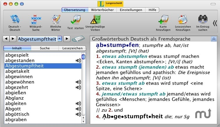 Screenshot 1 for Langenscheidt German Learners Dictionary