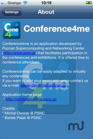 Screenshot 1 for Conference4me