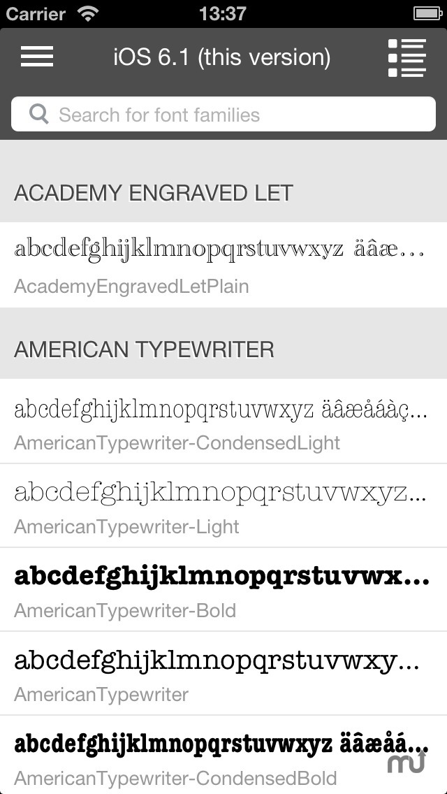 Screenshot 1 for Font Box