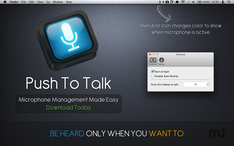 Screenshot 1 for Push To Talk