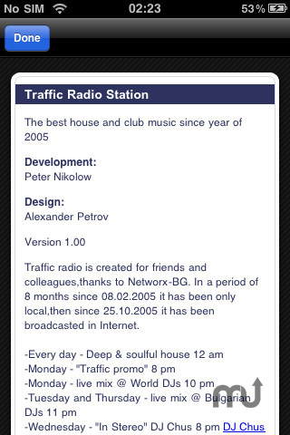 Screenshot 2 for Traffic Radio Station