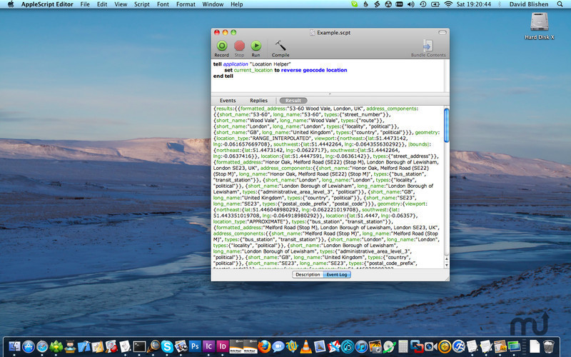 Screenshot 1 for Location Helper for AppleScript