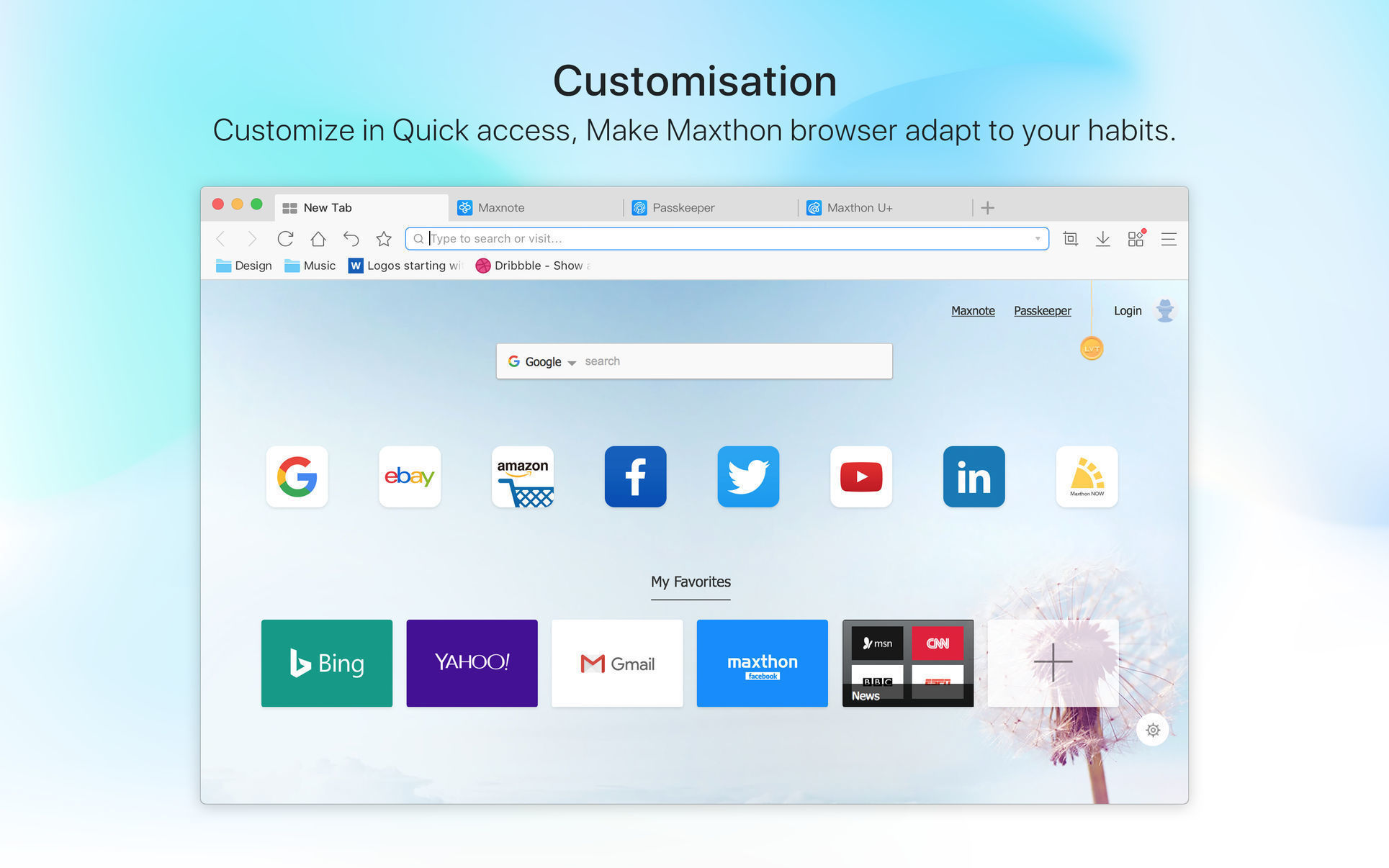 Screenshot 1 for Maxthon Browser