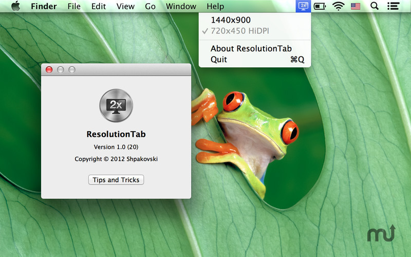Screenshot 1 for ResolutionTab