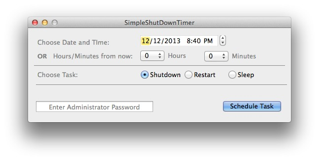 Screenshot 1 for SimpleShutDownTimer