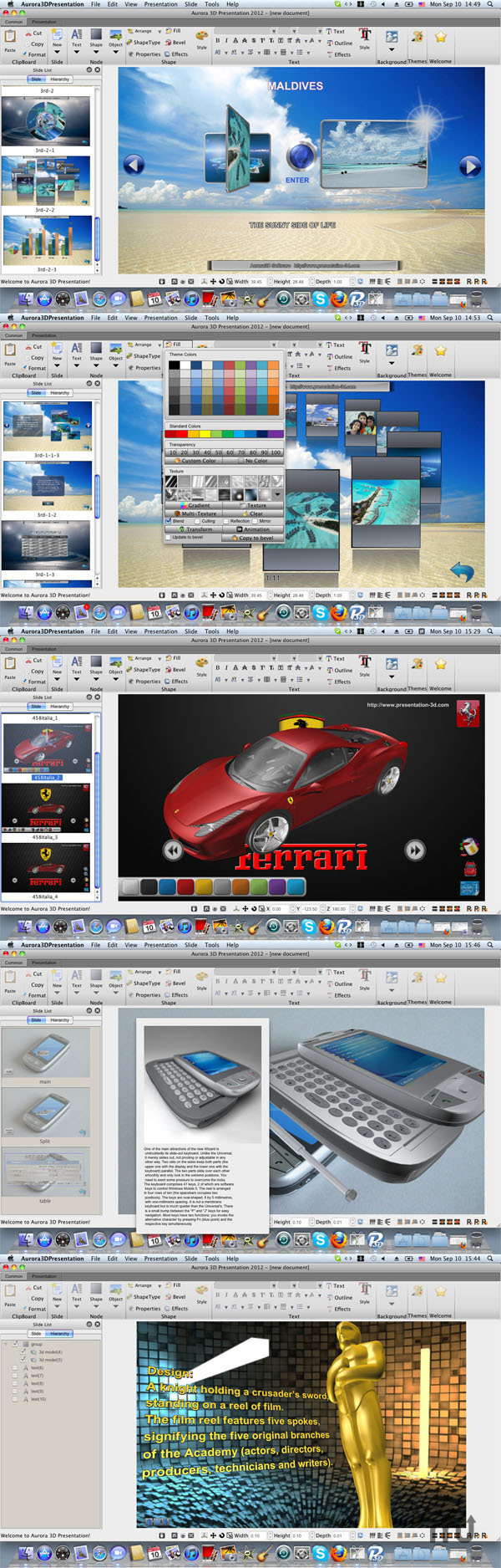 Screenshot 1 for Aurora 3D Presentation