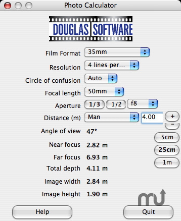 Screenshot 1 for Douglas Photo Calculator