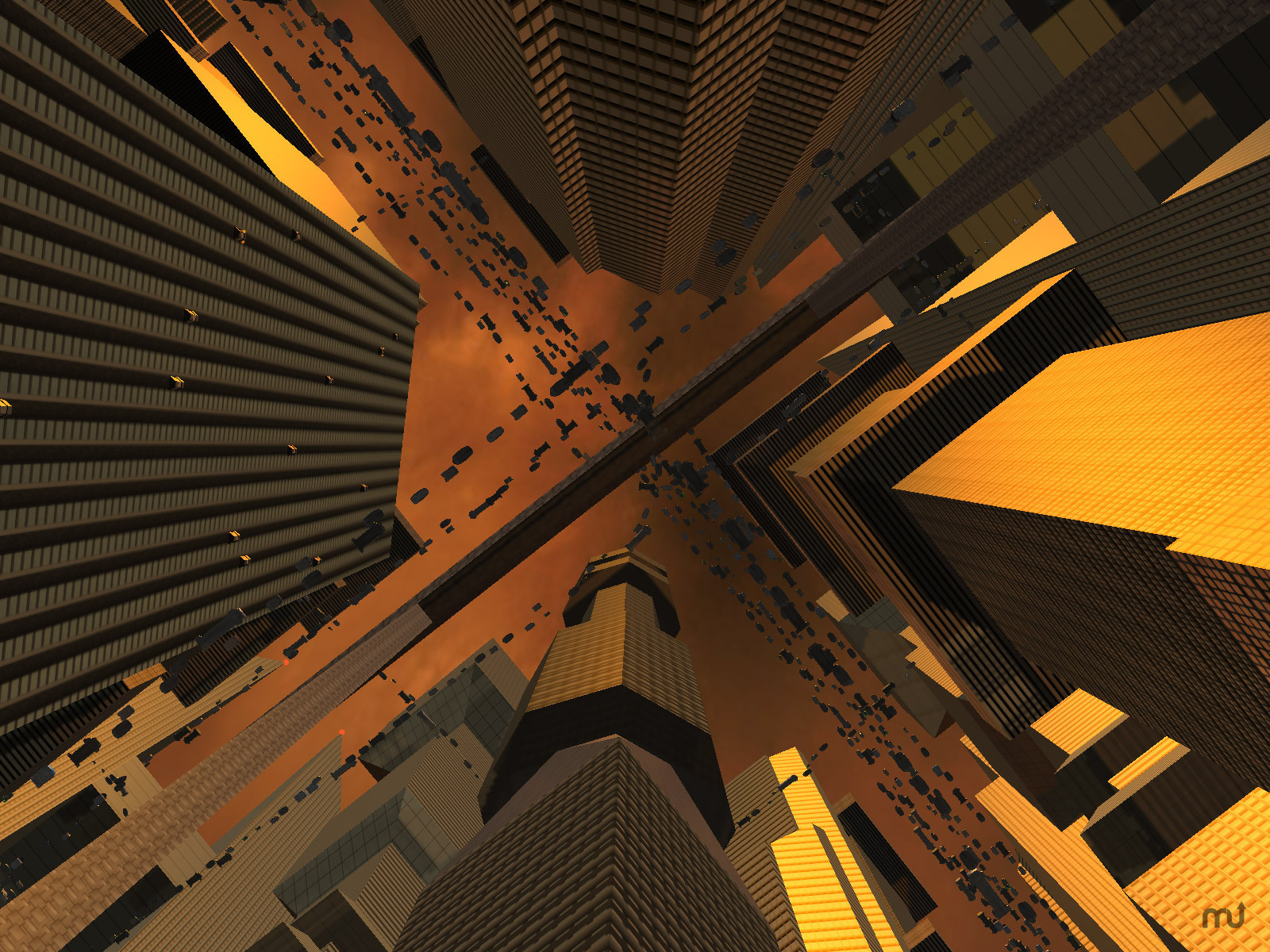 Screenshot 1 for Future City 3D Screensaver