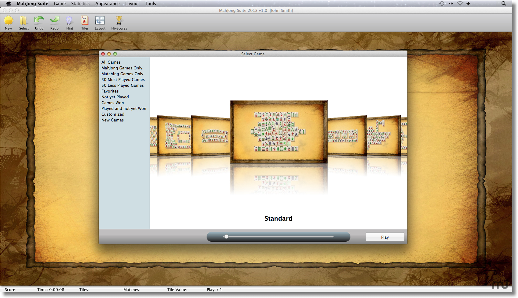 Screenshot 1 for MahJong Suite