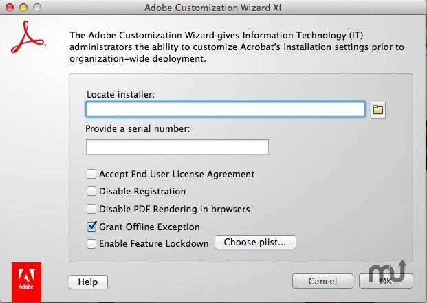 Screenshot 1 for Adobe Customization Wizard XI