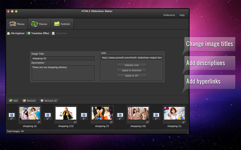 Screenshot 1 for HTML5 Slideshow Maker