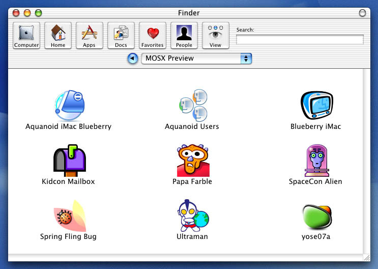 Screenshot 1 for Iconfactory 100th Icon Set (OSX)
