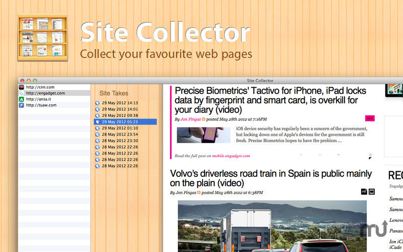 Screenshot 1 for Site Collector