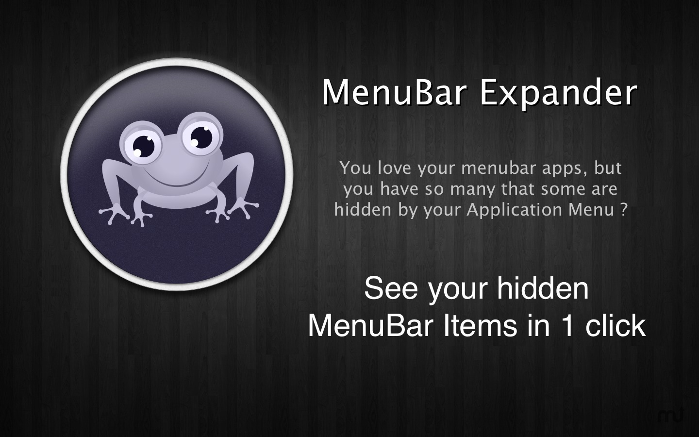 Screenshot 1 for MenuBar Expander