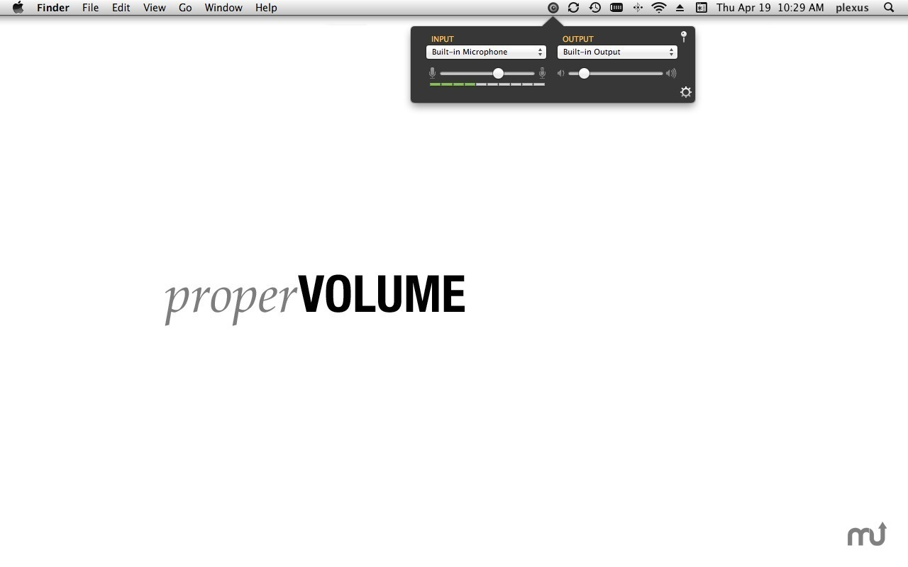 Screenshot 1 for properVOLUME