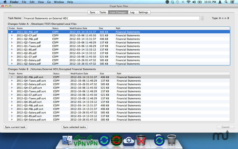 Screenshot 3 for Crypt Sync Files