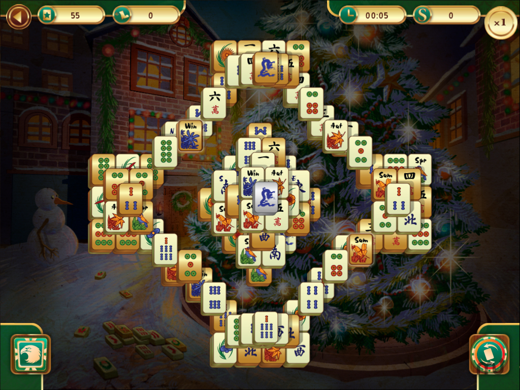 Screenshot 1 for Christmas Mahjong
