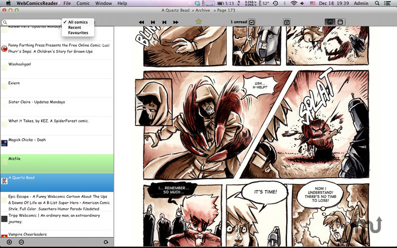 Screenshot 2 for WebComicsReader