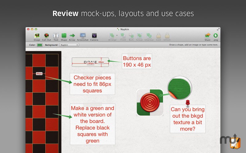 Screenshot 3 for Napkin - Image Annotation and Markup