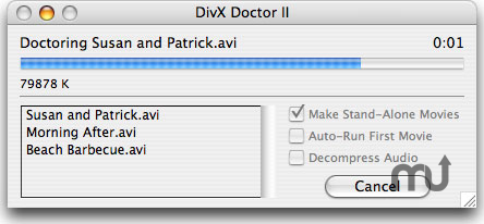 Screenshot 1 for DivX Doctor II