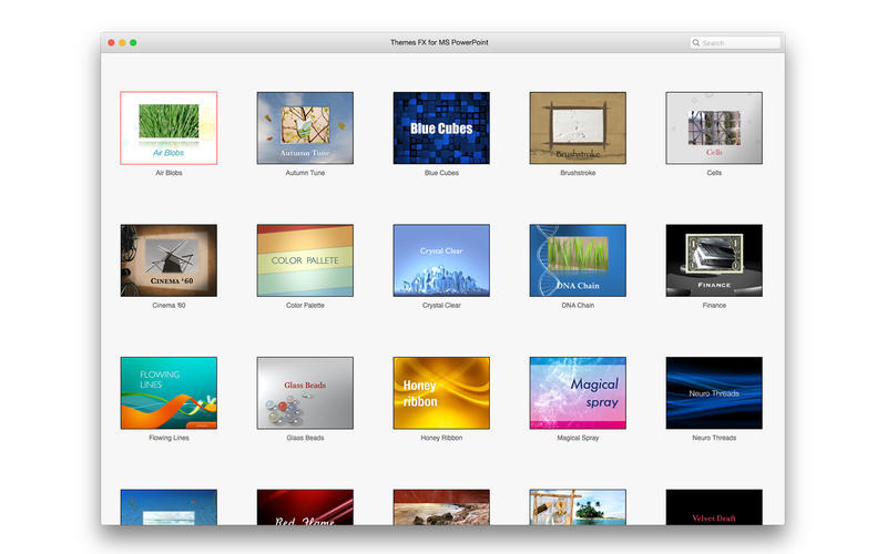 Screenshot 1 for Themes FX for MS PowerPoint