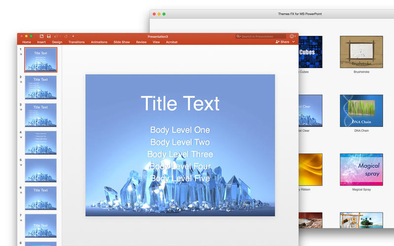 Screenshot 2 for Themes FX for MS PowerPoint