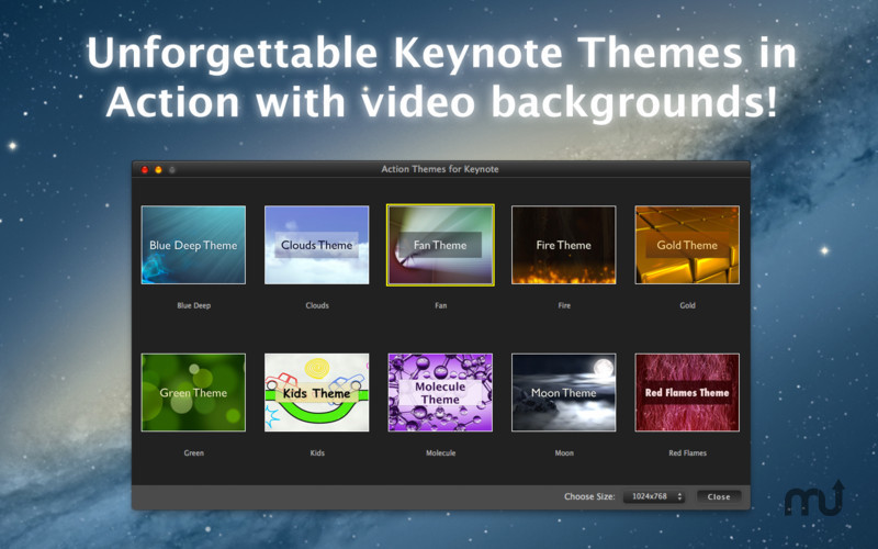 Screenshot 1 for Action Themes for Keynote