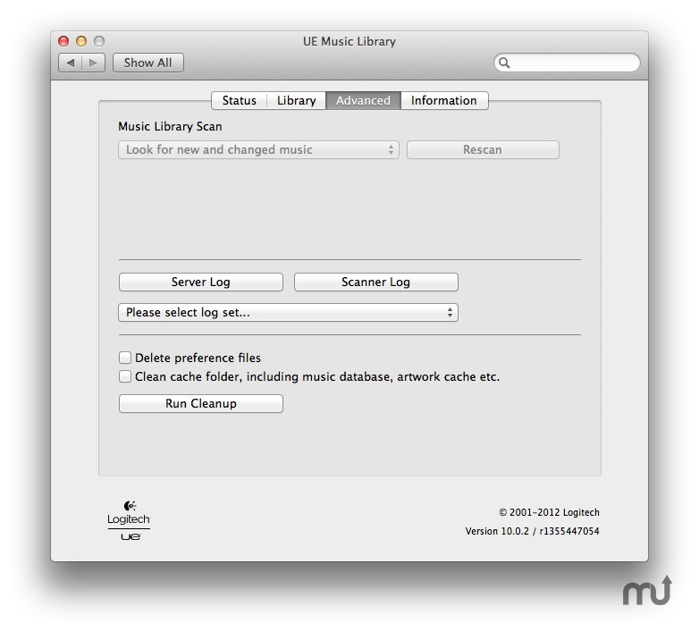 UE Music Library for Mac