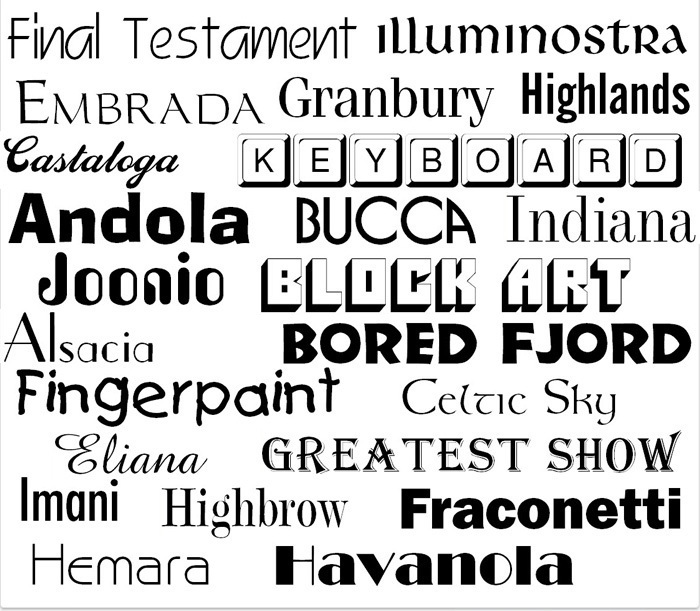 Screenshot 2 for 1000 Opentype Fonts Collection