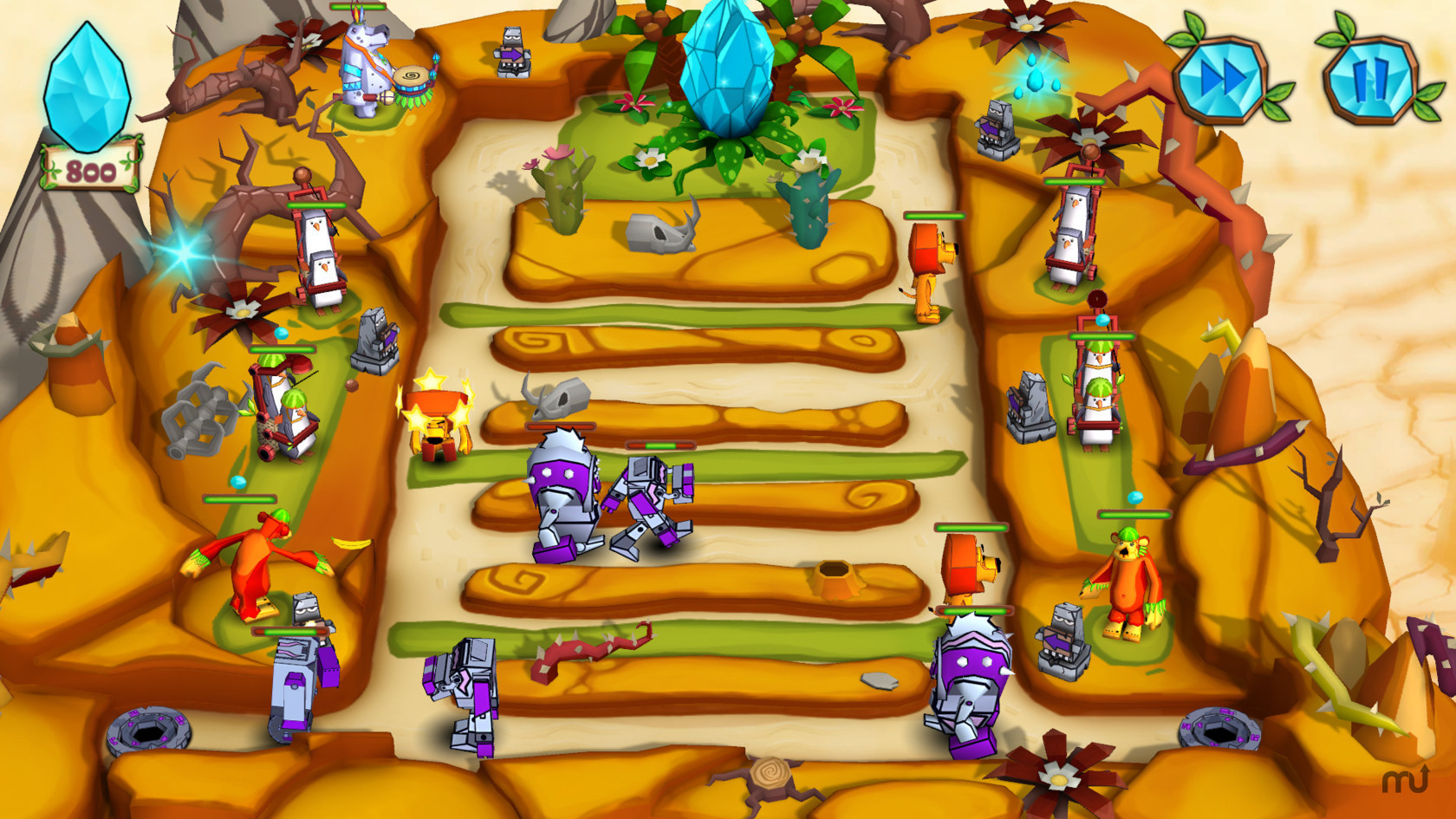 Screenshot 3 for Jungle vs. Droids