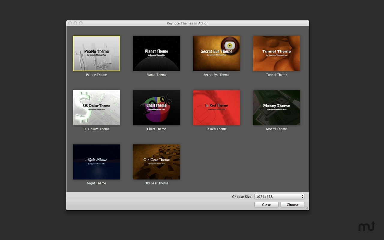 Screenshot 1 for Video Themes for Keynote