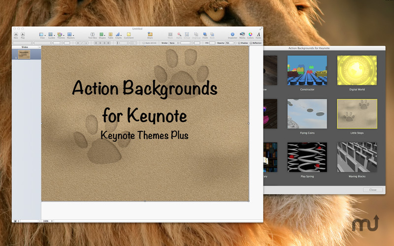 Screenshot 2 for Action Backgrounds for Keynote