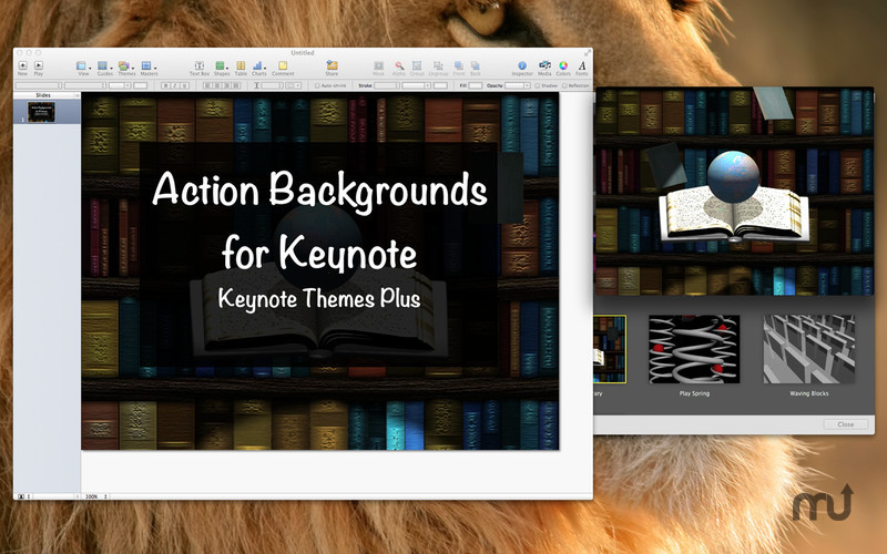 Screenshot 3 for Action Backgrounds for Keynote