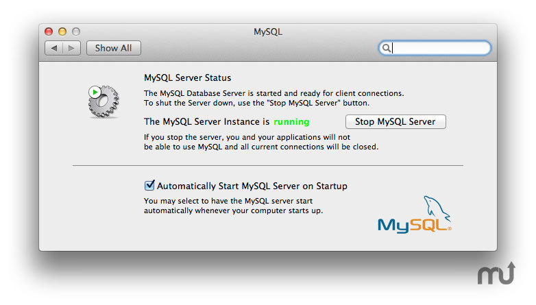 Screenshot 1 for MySQL PrefPane