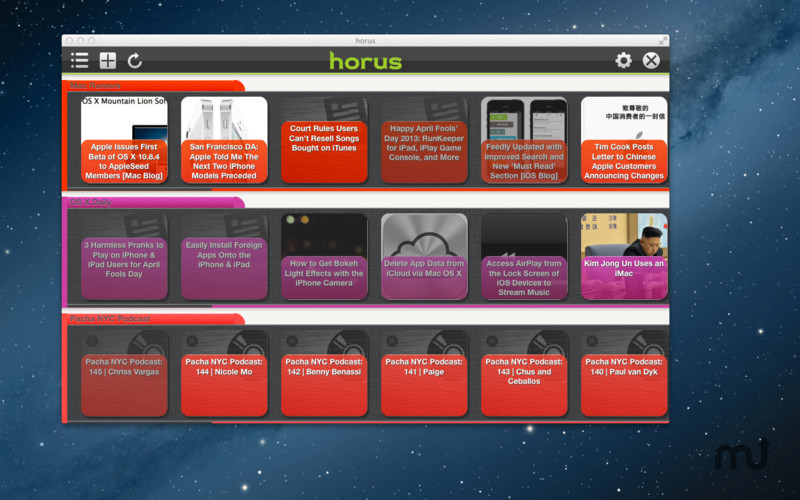Screenshot 1 for Horus News Reader